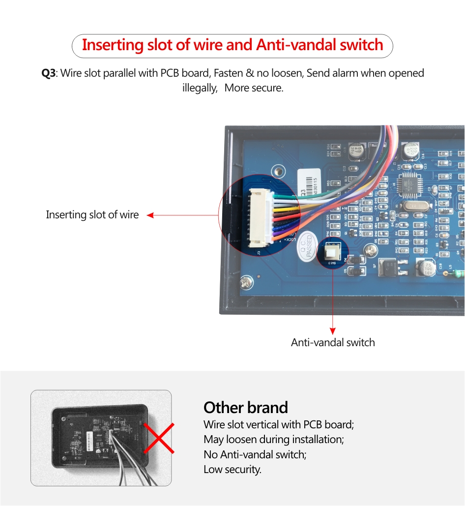 Q3 Access Card Reader Professional Control Manufacturer Vandal Switch Wiring Diagram Operating Humidity095non Condensing